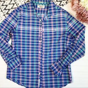 PENGUIN by Musing Wear Blue Plaid Button Down